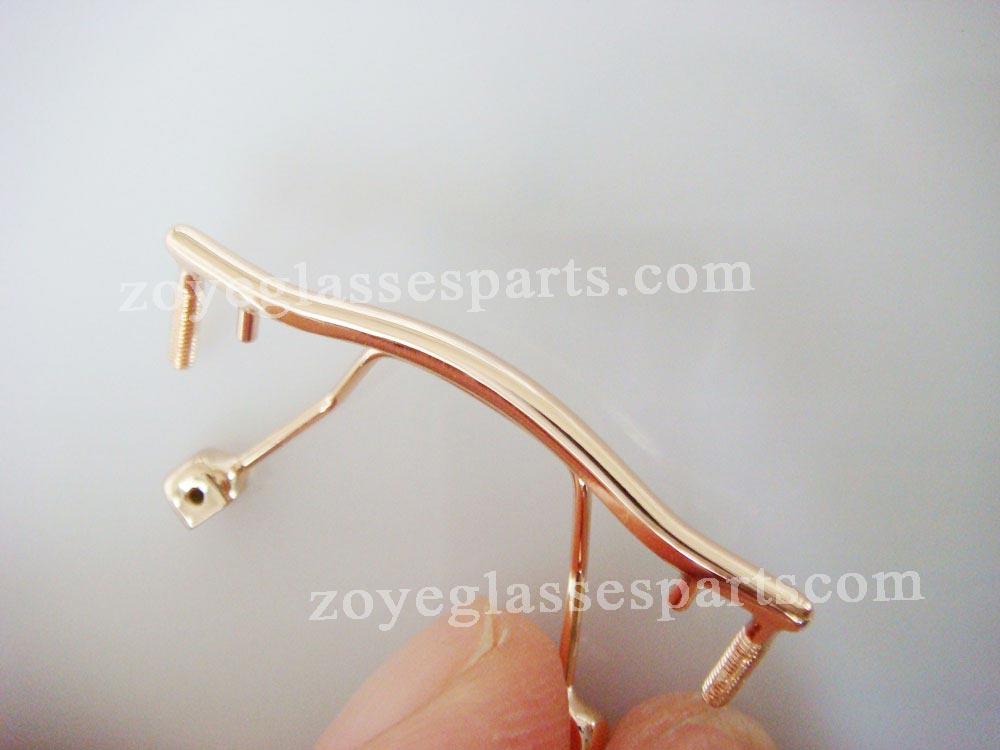 5ac74b85e النظارات الأنف جسر بديل ، المقاوم للصدأ جسر لل بدون إطارات الذهب المسمار  على النظارات الأنف جسر إصلاح TB-176 الذهب