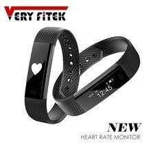 ID115 HR font b Smart b font Bracelet Activity Fitness Tracker Heart Rate Monitor Band Alarm