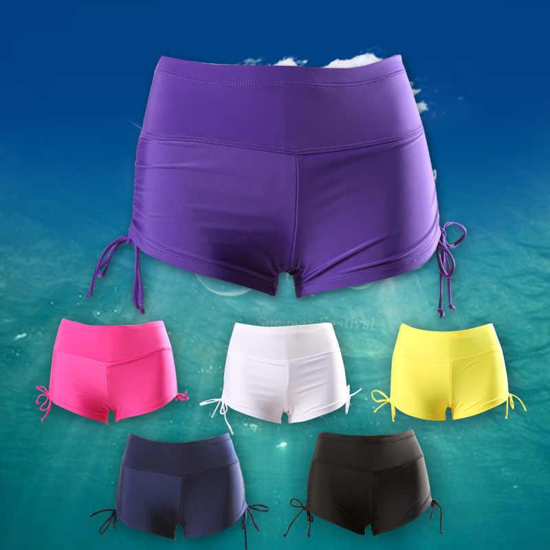 * 2019 kobiet nylonowe spodenki plażowe stroje kąpielowe plażowe spodenki surfingowe odprowadzanie wilgoci szybkie suche nurkowanie Gril's kąpielówki
