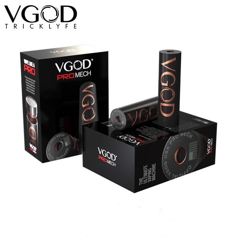 Original Elektronik Sigara VGOD Pro Mech Mod 510 fil réservoir atomiseur vaporisateur mécanique Mod électronique Cigarettes Vape mod