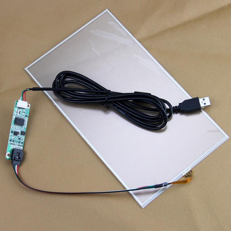 10.1 10.3 235*135mm 235mm*136mm 4wire Resistive Touch screen Panel Digitizer Glass 227*130mm With USB Controller