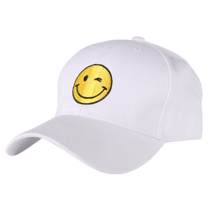 2017 Hip Hop Smiling Printed Cotton Adjustable Playful Unisex Running Caps Women Men Summer Hats ...