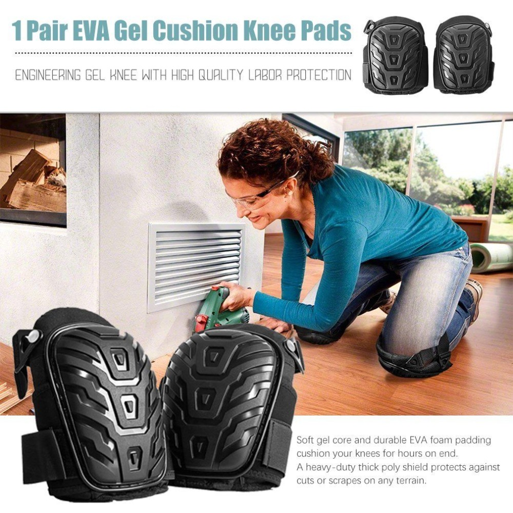 1 Pair Knee Pads for Work With Heavy Duty Foam Padding Workplace Safety Self Protection For Gardening, Cleaning and Construction new 1 pair soft foam knee pads protectors cushion sport work gardening builder