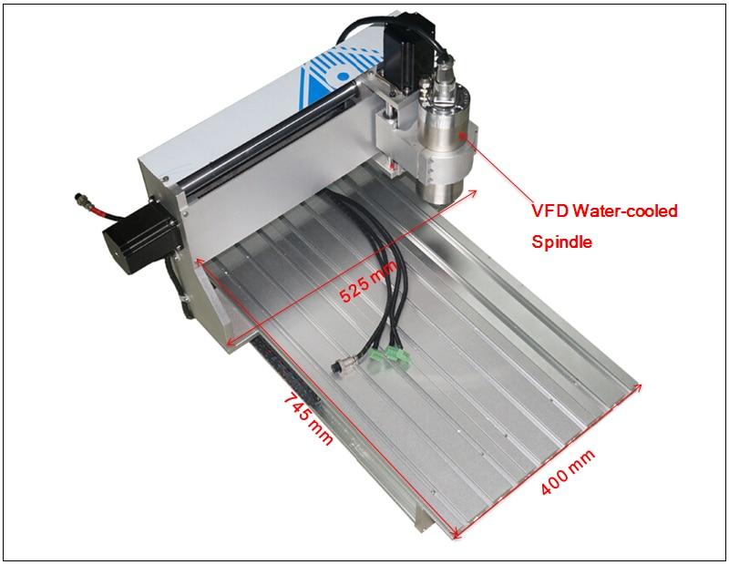 Cnc metalen carving machine 6040ZH 2200 w watergekoelde spindel hout router graveren - 5