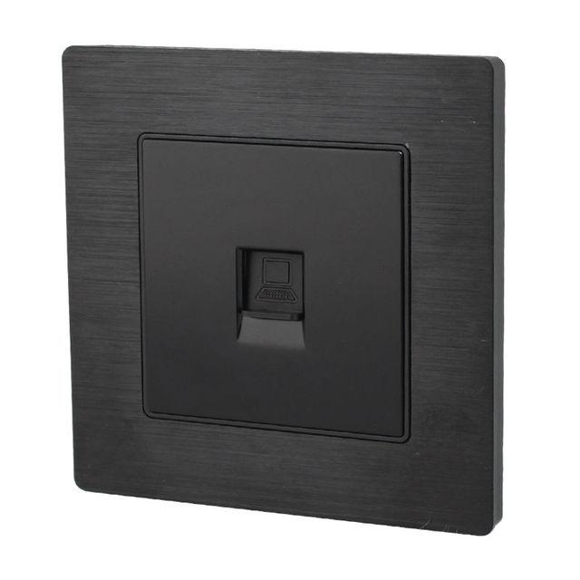 Best Price Internet RJ45 Network Black Socket Wall Mount Outlet ...