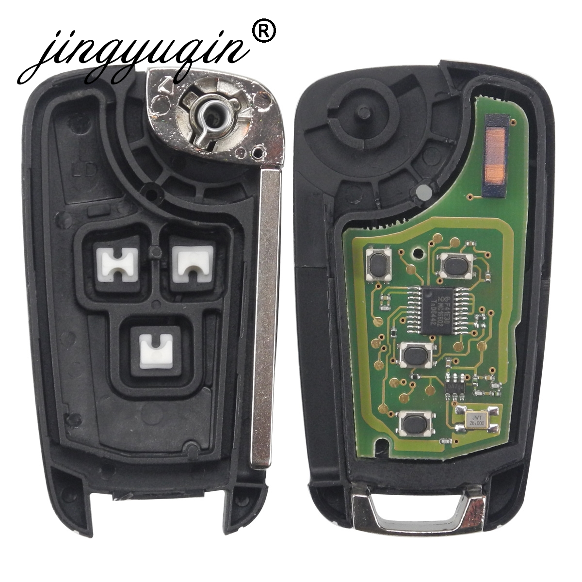 Image 4 - jingyuqin 2/3/4/5 Buttons Car Remote Key DIY for OPEL/VAUXHALL Astra J Corsa E Insignia Zafira C 2009 2016 315 / 433MHz PCF7937E-in Car Key from Automobiles & Motorcycles