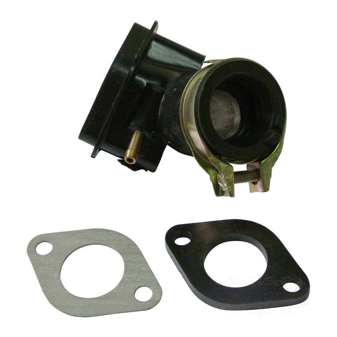 Intake Manifold Inlet Pipe + Spacer For <font><b>GY6</b></font> <font><b>50cc</b></font> SUNL Baotian Znen Jmstar Moped Scooter image