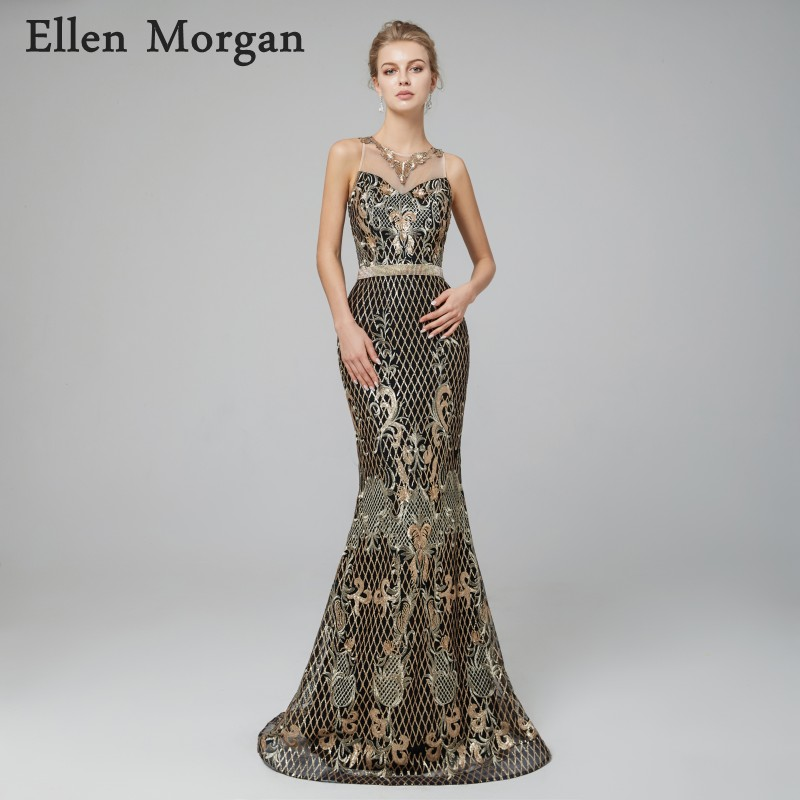 Elegant Mermaid   Evening     Dresses   2018 Saudi Arabian Pattern Court Train Fashion Sexy Red Carpet Celebrity Formal Prom Party Gowns