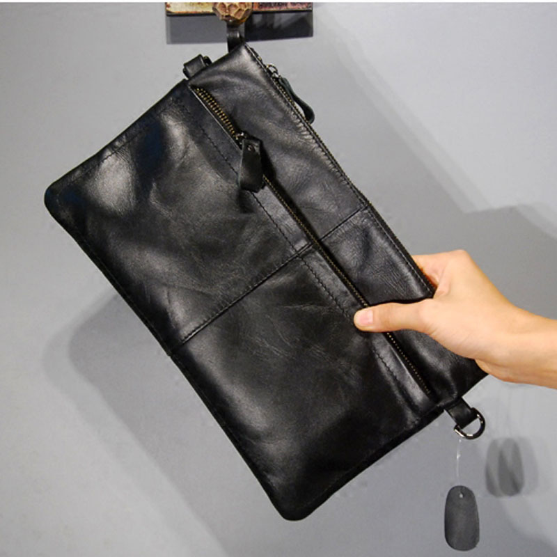 AETOO  Handmade oil wax cowhide first layer leather men and women messenger bag Clutch bag 100% first layer of leather women business bag retro oil wax leather shoulder bag mobile messenger women bag trend hot