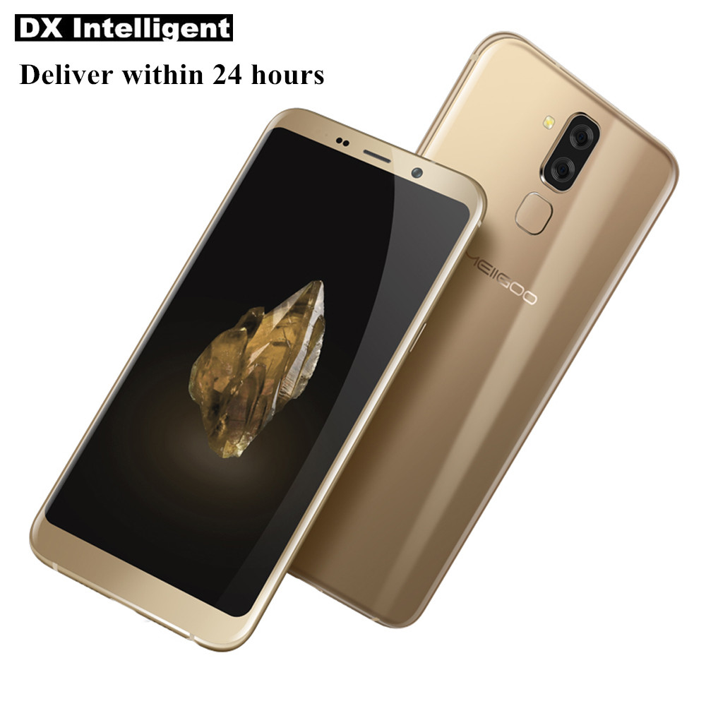 Flash Vente MEIIGOO S8 6.1 pouce Rapide Charge 4 gb 64 gb MT6750T Octa Core 13MP Double Cmaera Android 7.1 OTG D'empreintes Digitales Mobile Téléphone
