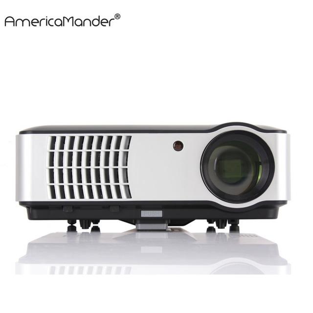 300 pulgadas Sistema Android Full HD 1080 P 3000 lúmenes 1280*800 de Vídeo HDMI USB LED de Cine En Casa TV 3D Proyector Beamer proyector