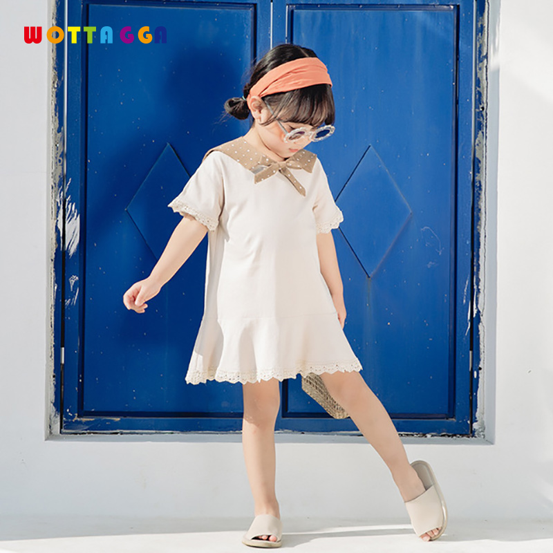 WOTTAGGA 2019 Baby Girls Dress Lace for Kids Blouse Toddler Tops Lacework Infant