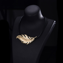 Statement Choker Necklace For Women 2019 Big Metal Leaf Pendant with Layered Chain Vintage Necklace Gold Jewelry Gift for Party все цены