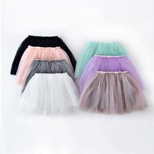 Girls Tutu Skirt 7 colors New Summer Style Ball Gown Skirt Pettiskirt Girls Skirts for 2-7 Years Kids Baby Ballet Dance skirt