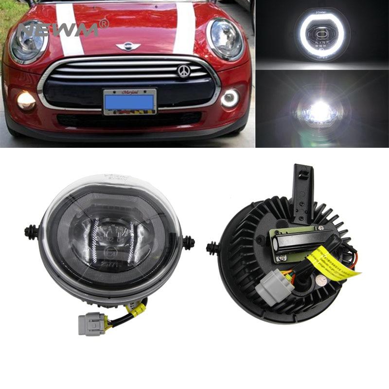 30W Full LED Halo Ring DRL Parking Fog Lamp Kit For 15 up 3rd Gen MINI Cooper