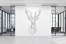 Geometric Bucks Head Vinyl Wall Sticker Bedroom Living Room Home Art Deco Wallpaper 2WS44