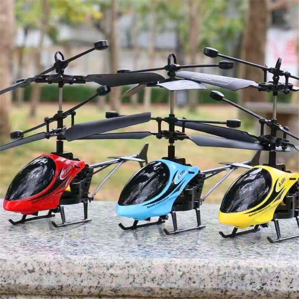 Vieruodis RC Helicopter 2 CH 2 Channel Mini RC Drone With Gyro Crash Resistant RC Toys For Boy Or Girl Kids Gift Red Yellow Blue