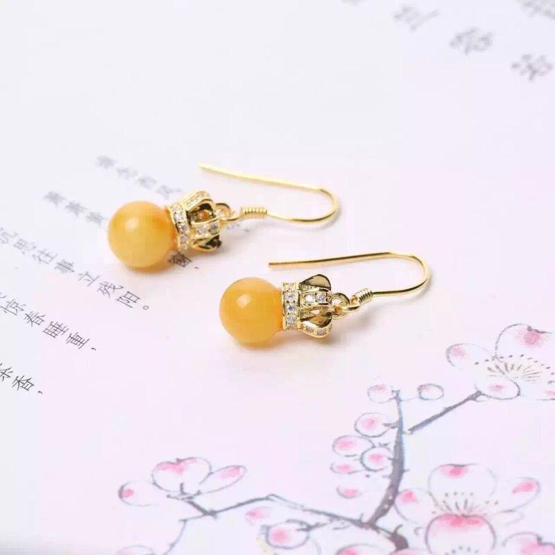 Boucles d'oreilles bijoux multicolores simple et élégant cire d'abeille naturelle en gros une génération