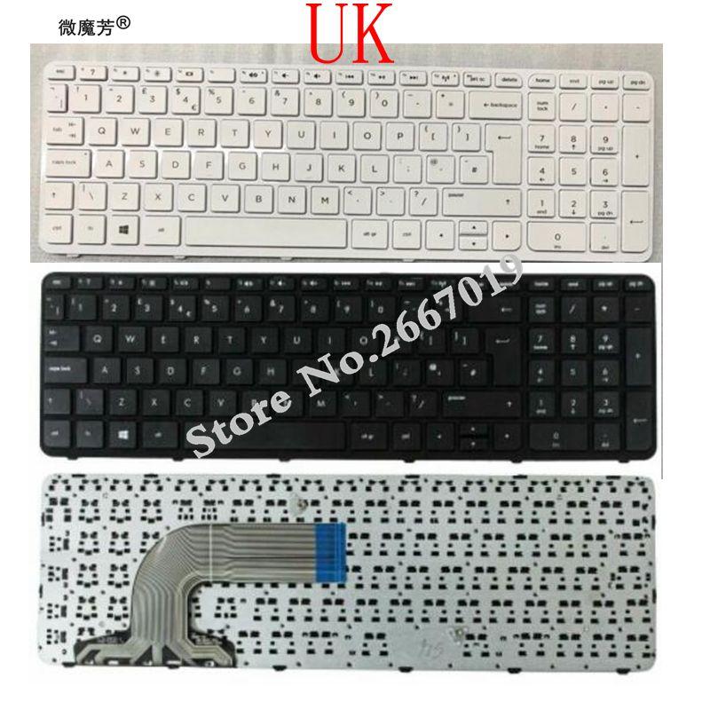 Clavier UK pour HP Pavilion 15-e 15-n 15-R 15-D 250 G3 255 G3 256 G3 clavier dordinateur portable noir/blancClavier UK pour HP Pavilion 15-e 15-n 15-R 15-D 250 G3 255 G3 256 G3 clavier dordinateur portable noir/blanc