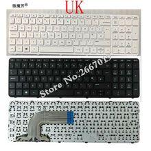 Великобритания Клавиатура для ноутбука для hp Pavilion 15-e 15-n 15-R 15-D 250 G3 255 G3 256 G3 черный/белая клавиатура для ноутбука