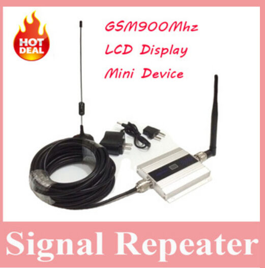 LCD Display !!! Mini GSM 900Mhz Mobile Phone Signal Booster , GSM Signal Repeater , Cell Phone Amplifier With Cable + Antenna