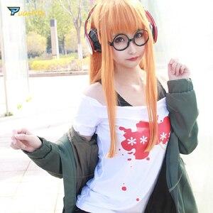 Image 2 - Futaba Sakura Cosplay Game Persona 5 Costume Futaba Sakura Navi Persona 5 Cosplay Cotume Women with Socks Glasses