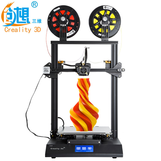 Creality 3D CR X 3D impresora de doble color opcional DIY KIT de pantalla táctil de 4,3 pulgadas de gran tamaño de impresión Dual ventilador de refrigeración v slot aluminio