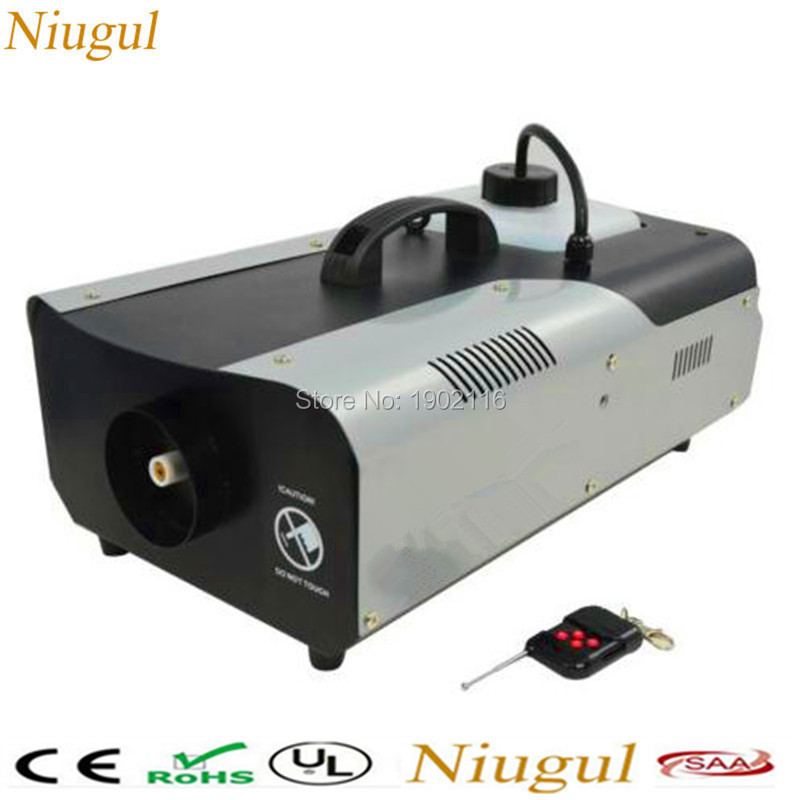 Niugul 1500W Fog Machine Smoke Machine Stage Mist Effect 110V/240V Remote/Wire Control for Disco DJ Party Spray Up fogger maker
