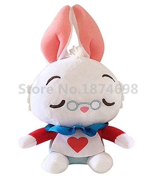 New Alice In Wonderland White Rabbit Plush Doll Toy 20cm Cute