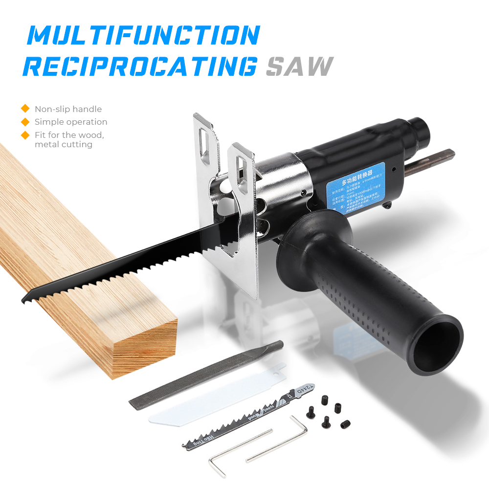 Multifunction Cordless Reciprocating Saw Attachment Change Electric Drill Jig Saw Metal File For Wood Metal CuttingMultifunction Cordless Reciprocating Saw Attachment Change Electric Drill Jig Saw Metal File For Wood Metal Cutting