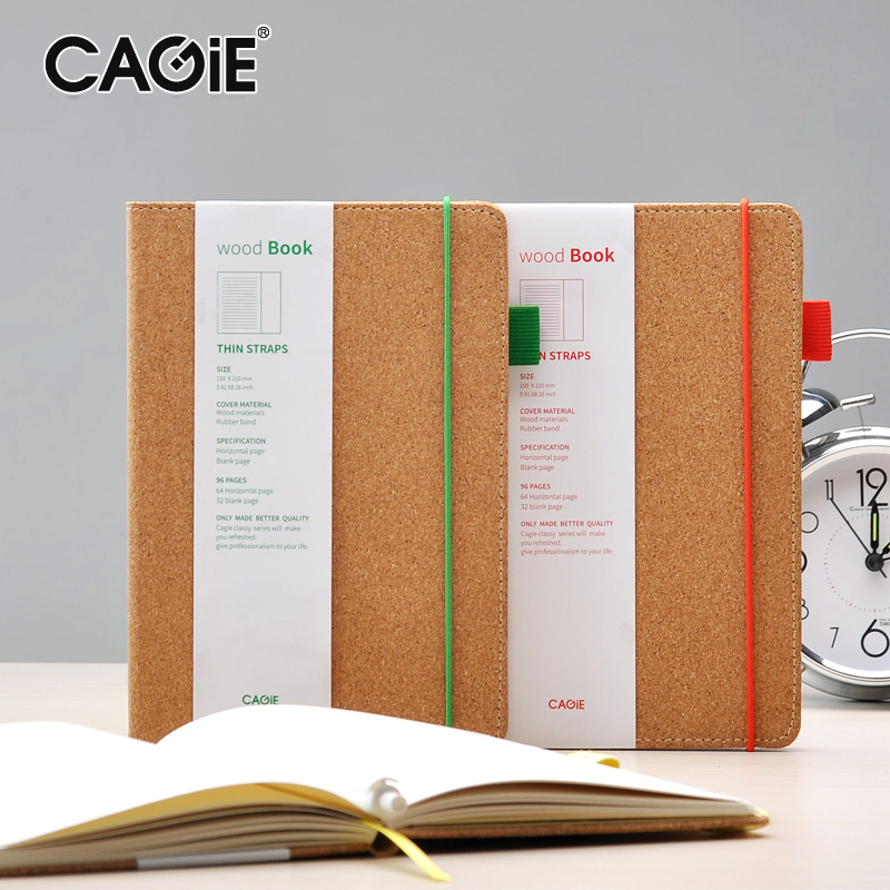 Creative Notebook Cover : Cagie vintage bandage notebook softwood cover creative