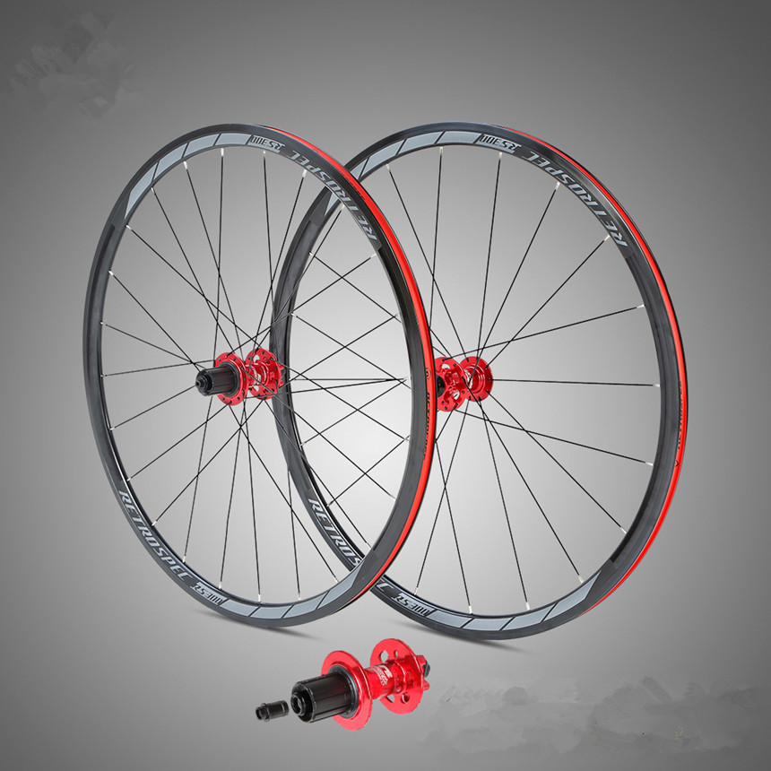 Road Bike <font><b>Bicycle</b></font> Aluminum Four-axis Disc Brake <font><b>700C</b></font> <font><b>Wheels</b></font> <font><b>Wheel</b></font> Set Six-Claw Tower Hub Professional Riding 30/40mm Rim image