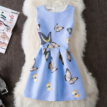 Robe Femme ete 2018 Slim Dress Elegant Butterfly Floral Pattern Girlish Dresses Lovely Cute Summer Short Dress Women