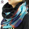 2016 новый большой кольцо стиль плед отпечатано женщины зима шейный платок шарфы вокруг шеи Женщины Обертывания дамы глушитель шерсти украшения