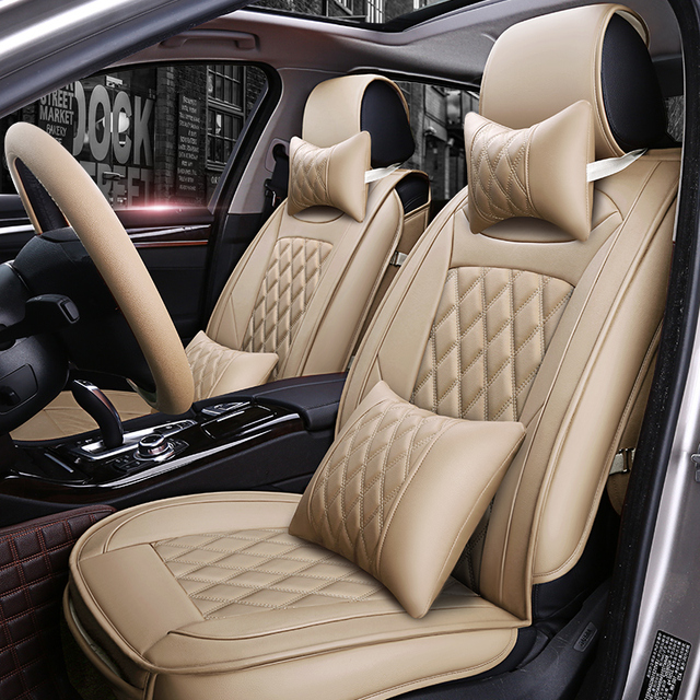 Leather Car Seat Covers For Toyota Corolla Camry Rav4 Auris Prius Yalis Avensis Runner Styling