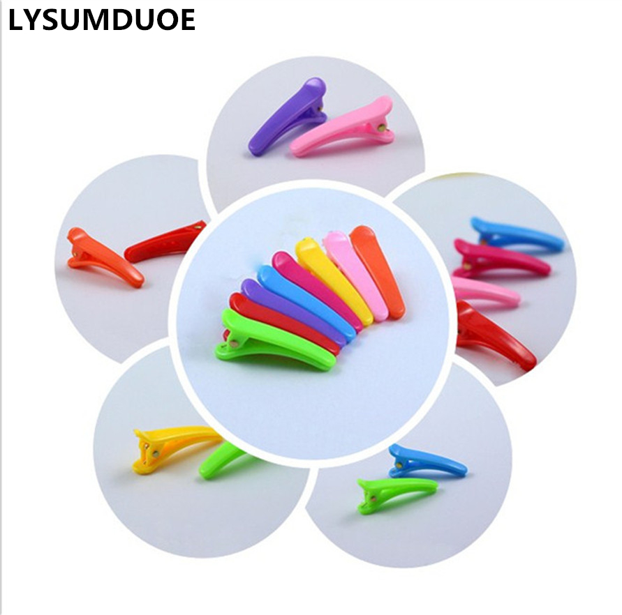 LYSUMDUOE Candy Color Hairpin Children Girls Solid Hair Clips Clothing Barrette Resin Hairpins Kids New Gift Duck Clip Hairgrip 12 colors cute girls hairpins children elsa side knotted clip hairpin hair clip small size hair accessories