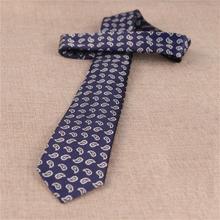 7cm necktie cashew flower tie for men neckwear striped ties Paisley ascot shirt accessories man neckties