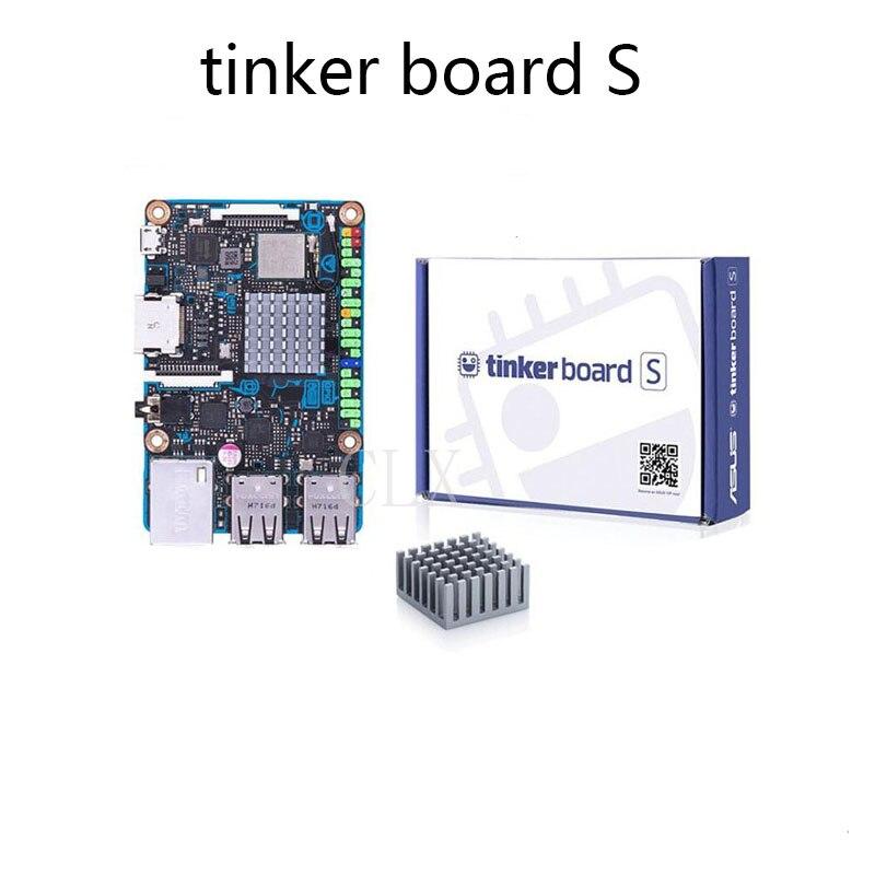 ASUS SBC Tinker board S RK3288 SoC 1.8GHz Quad Core CPU, 600MHz Mali-T764 GPU, 2GB LPDDR3 & 16GB eMMC TinkerboardS gpd xd 5 inch android4 4 gamepad 2gb 32gb rk3288