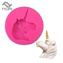 TTLIFE New Type Unicorn Horse Liquid Silicone Mold Chocolate