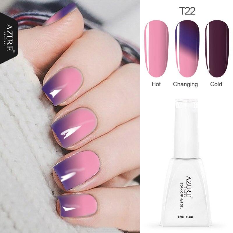 Azure Temperature Color Changing Nail Gel Polish Long-lasting Soak-off LED UV 12ml Chameleon Gel Varnish For DIY Manicure