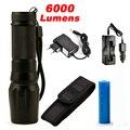6000 Люмен Фонарик CREE XM-L2 Вспышка Высокой Мощности Факел Масштабируемые LED Фонарик Факел света Для 3xaaa или 3 х 1x18650