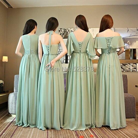 b8213824a41 YNQNFS BD3 Elegant Chiffon Multi Color Bridesmaid Dresses