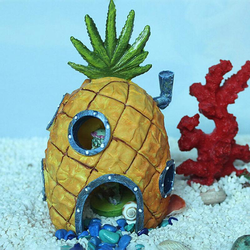1pc Spongebob Aquarium Decoration Pineapple House Home ...