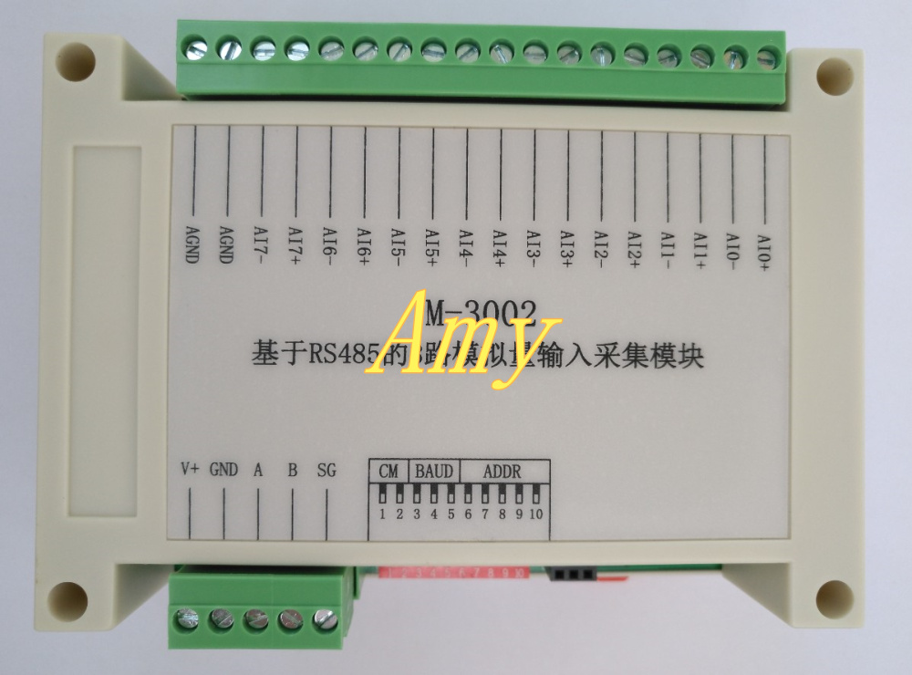 Manufacturer's genuine RS485 voltage and current acquisition module 8, 16 bit analog 4~20mA -0~10V input