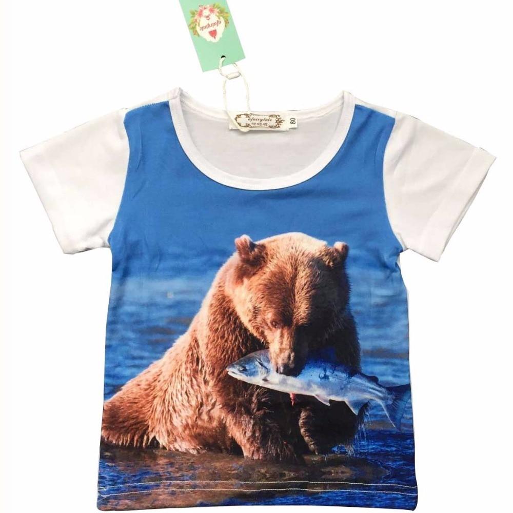 Boys T shirt Baby Girl Summer clothes Short sleeve boys tops costoms for Kids Toddle girls clothing 3D Digital HD Cartoon print