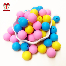BOBO.BOX 100Pcs/lot 9mm Silicone Beads Food Grade Material for DIY Baby Teething Necklace teether