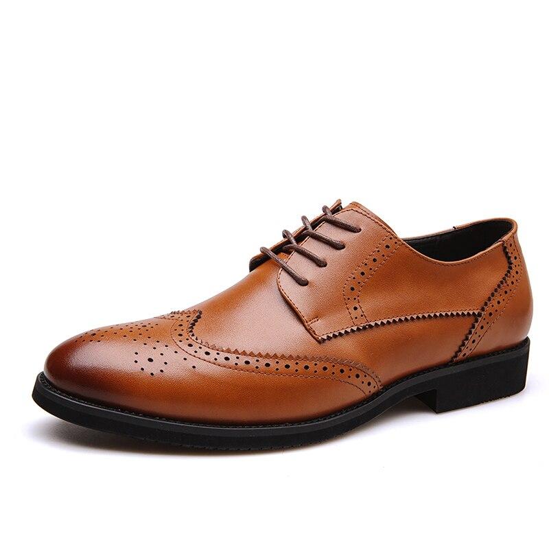 Bureau Main Mariage Mocassins Hommes Robe En Cuir Formelles Dxkzmcm D'affaires Brun marron Noir Chaussures De Véritable 8dqRxwUA