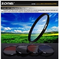 Профессиональные Zomei 58 мм Red Blue Orange Серый Цвет Градиент ND Фильтр Комплекты Защиты Объектива для Canon Sony Камеры