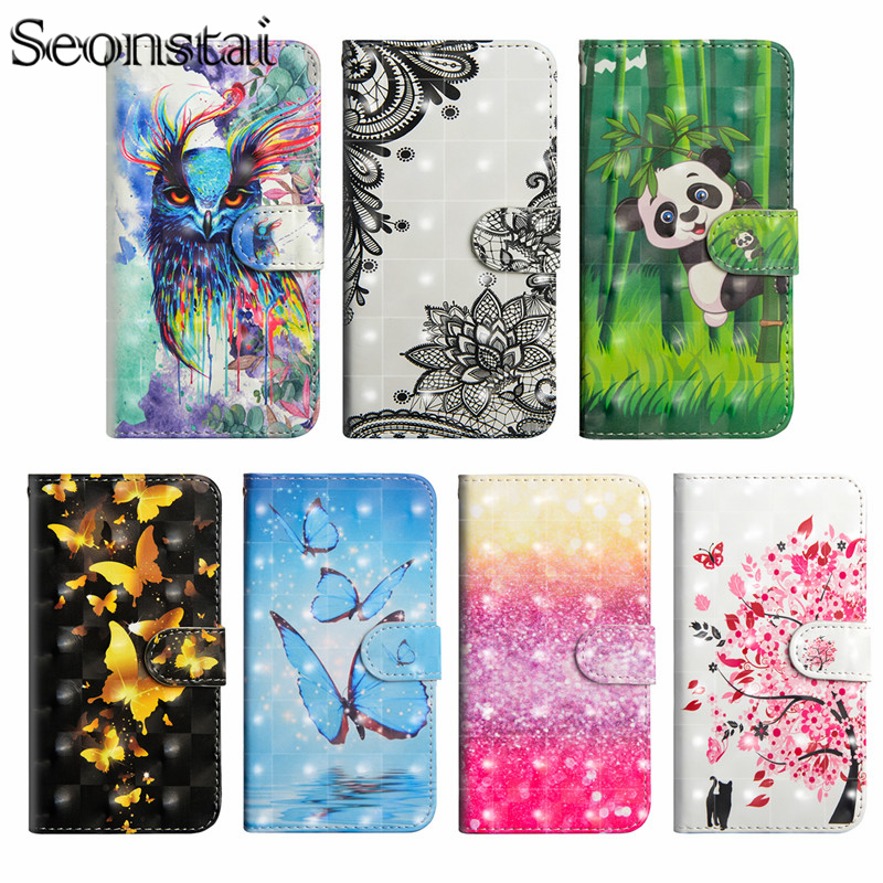 Painting Flip Phone Case For Asus ZB570TL Leather Silicon Wallet Cover sFor Asus Zenfone max Plus M1 ZB570TL Stand Case Coque