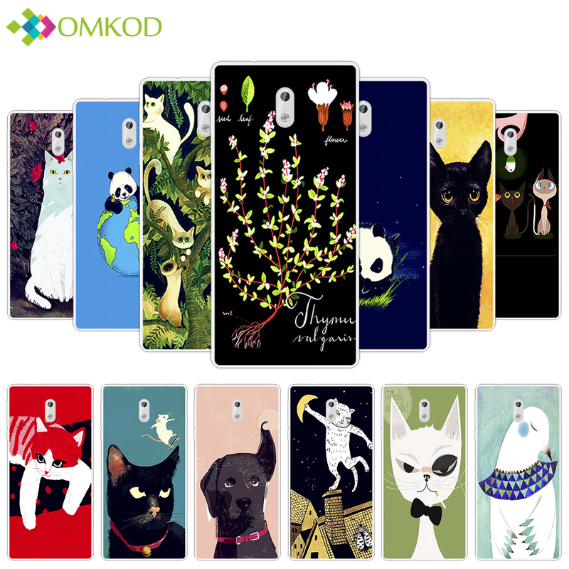 For <font><b>Nokia</b></font> <font><b>3</b></font> TPU <font><b>Dog</b></font> Cat Pets Back Cover For <font><b>Nokia</b></font> <font><b>3</b></font> Ultrathin Silicone Phone Protector <font><b>Cases</b></font> For Nokia3 Fundas 5.0
